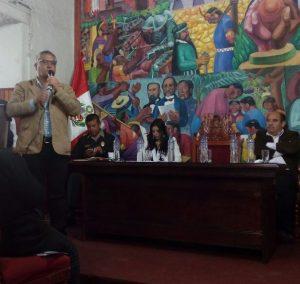 UGEL Cajamarca participando en II Audiencia Pública por la Seguridad Ciudadana