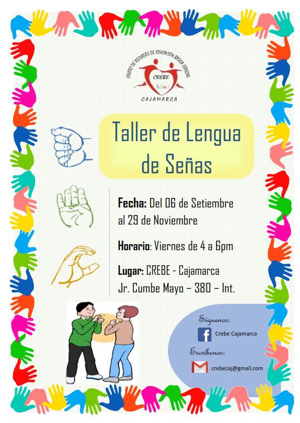 TALLER DE LENGUA DE SEÑAS