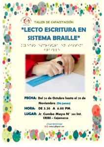 """TALLER DE CAPACITACIÓN: """"LECTO ESCRITURA EN SISTEMA BRAILLE"""""""
